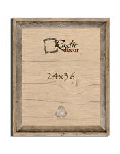 """24x36 - 2"""" Wide Signature Reclaimed Rustic Barn Wood Wall Frame"""