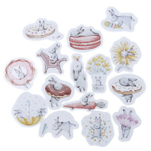 45pcs-cute-rabbit-paper-decor-diy-diary-scrapbooking-label-sticker-FO