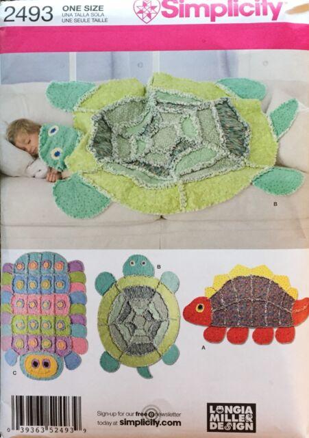 Simplicity  2493 Rag Quilts Turtle, Caterpillar, Turtle