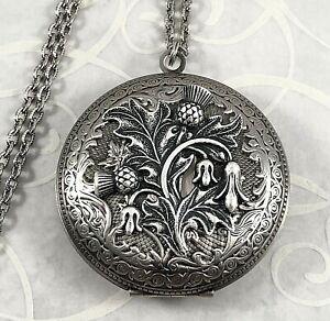 Thistle Necklace Irish Locket Thistle Locket Scottish Thistle Locket Celtic Locket Scottish Necklace Thistle Flower Thistle