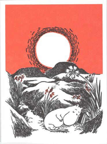 Moomin Carte de vœux letterpressed Sleeping mamma