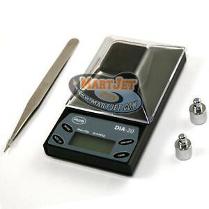 AWS DIA 20g 0.001g Milligram mg Jewelery Digital Balance Scale Gem Stone Diamond