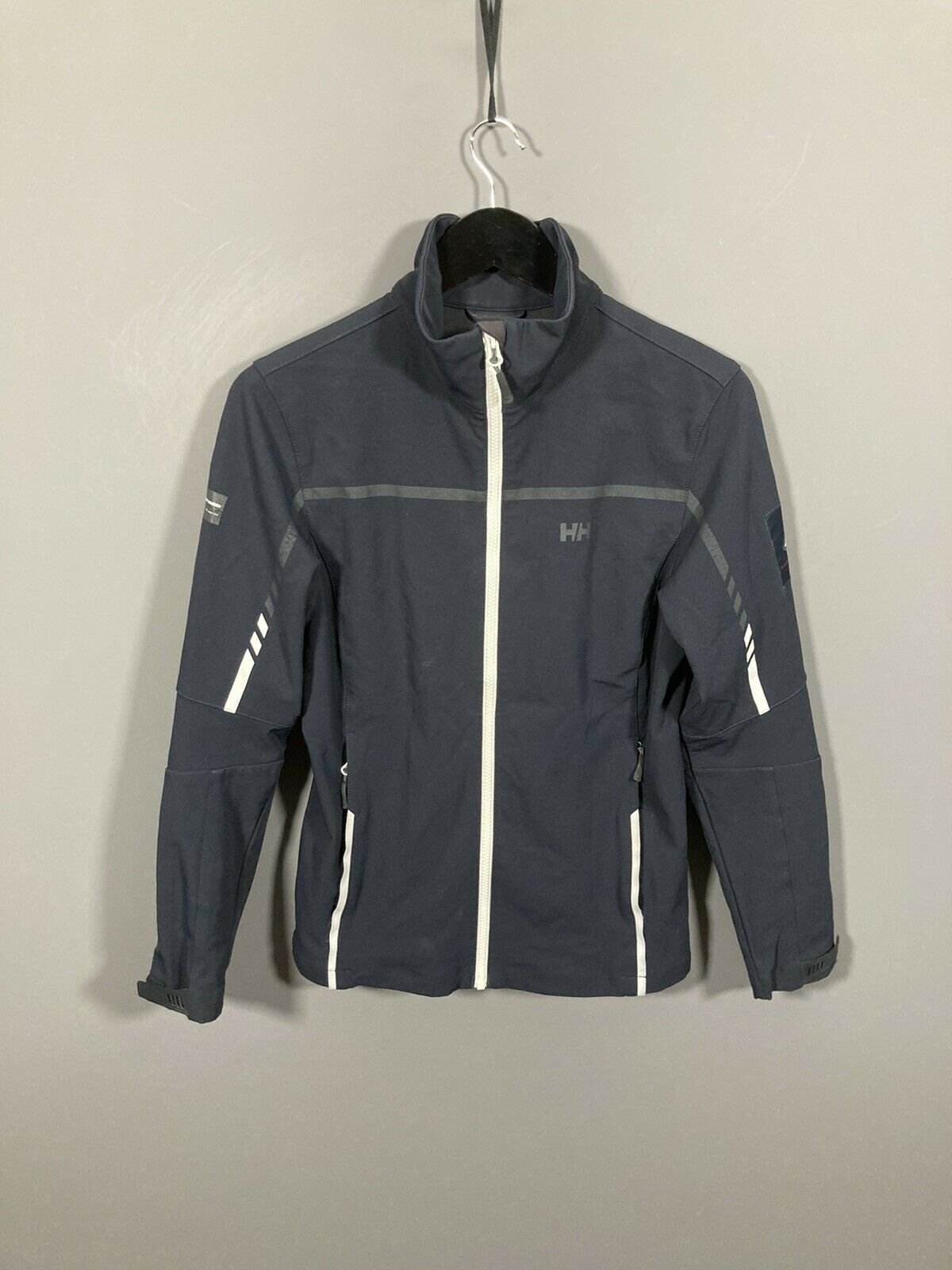 HELLY HANSEN SAILING SOFTSHELL Jacket - M - Navy - Great Condition - Women's