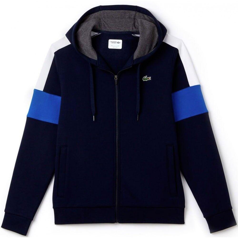 Lacoste Abbigliamento LACOSTE FELPA FULLZIP blue SH9492 blue mod. SH9492-EHP