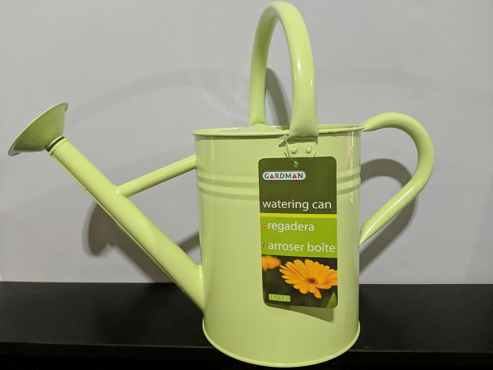 Gardman 1 Gallon Metal Green Watering Can - New with Tags