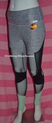 Victoria/'s Secret PINK Bonded Highwaist Ultimate Legging Mesh Mint Marl Grey S,M