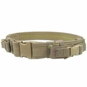 Condor-Tactical-Belt-Includes-2-Pistol-Mag-Pouch-Police-Combat-Gear-Tan-TB