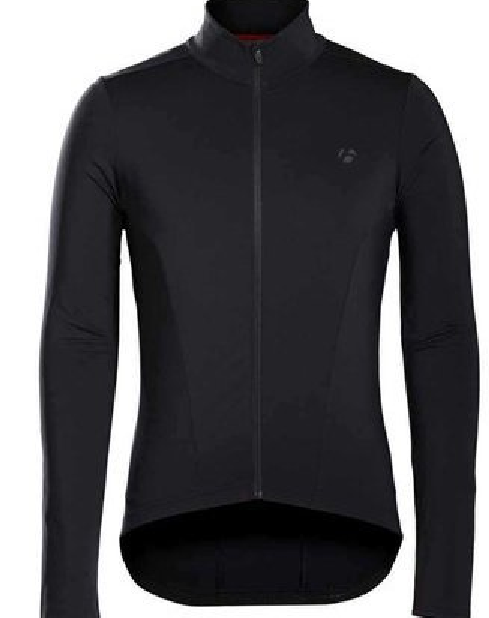 Trikot BONTRAGER Sprinter. THERMAL Farbe LONG SLEEVE JERSEY MAILLOT schwarze Farbe THERMAL a3d009