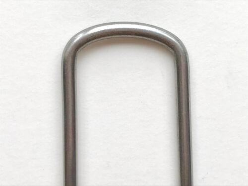 """Commercial Grade 6/"""" Landscape Staples Sod Staples Garden Stakes Steel Pins"""