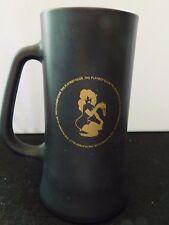 Vintage Playboy Club Black Frosted Glass Beer Mug, Girl with Key Design