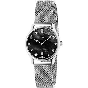 28bf41addd3 New Gucci G-Timeless Diamond Dial Mesh Steel Bracelet Women s Watch ...