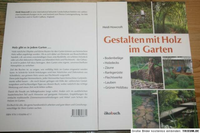 Fachbuch Holzbau im Garten, Zäune  Pergola  Lauben  Holzterrasse  Weidenbau