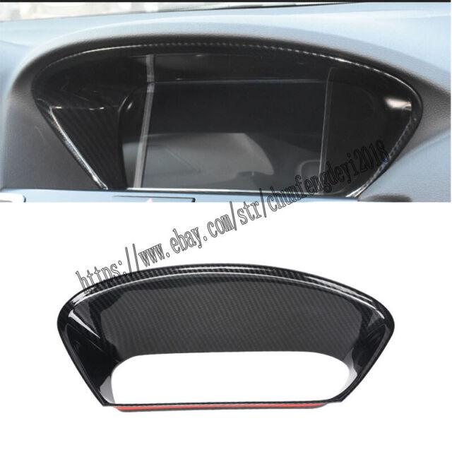 1PC Carbon Fiber Interior Front Dashboard Trim Decoratio