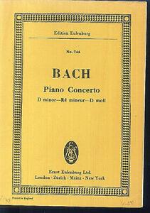 J. S. Bach ~ PIANO CONCERTO D moll - Studienpartitur