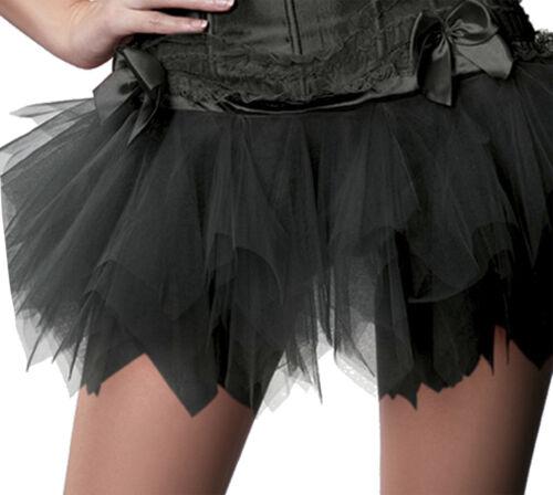 Tutu Petticoat Unterrock Ballet Kleid schwarz Halloween Wäschebeutel