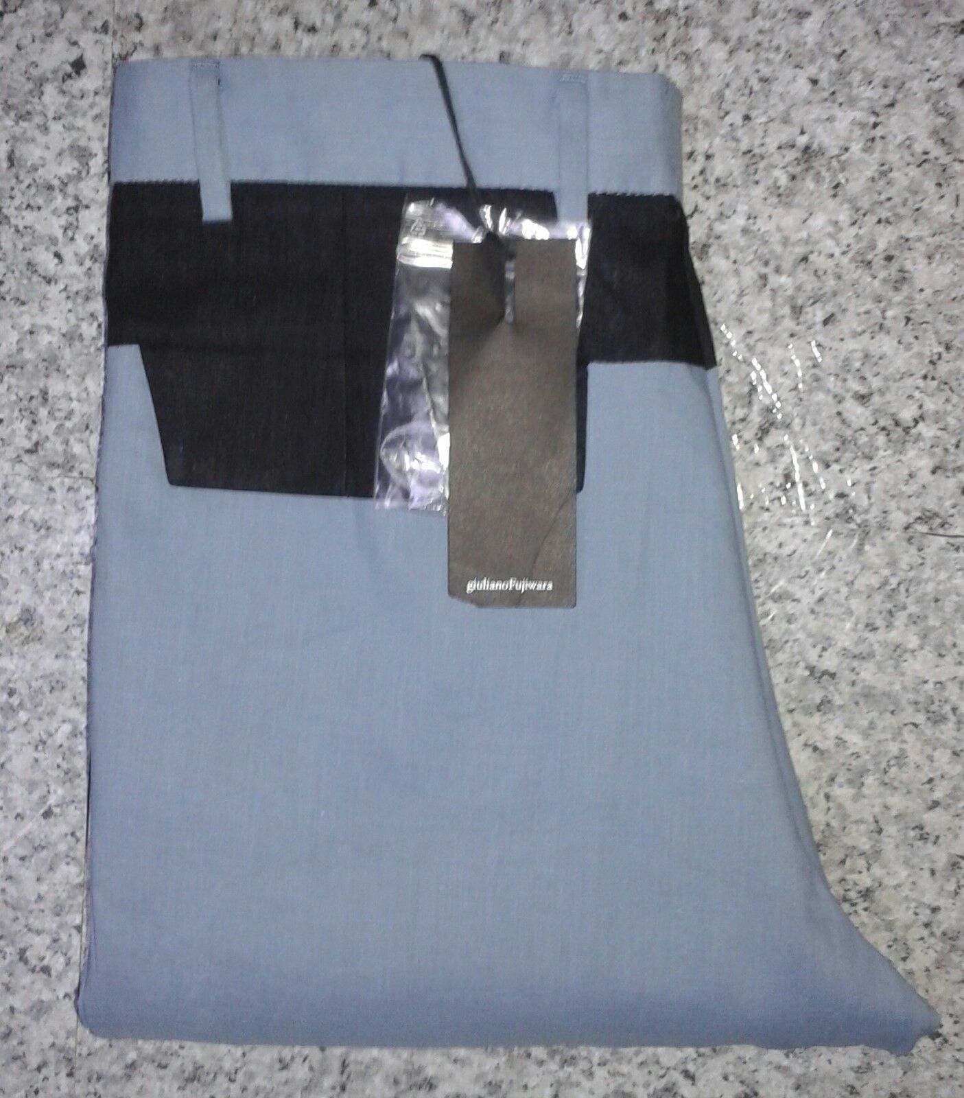 Giuliano FUJIWARA PU06 Blu Nero Contrasto RITAGLIATA Pantaloni Pantaloni   W28 L20