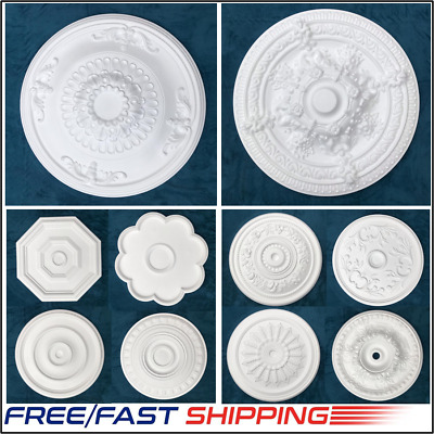 Ceiling Rose Polystyrene Easy Fit  /'MEADOWSWEET/' 42 CM  Stylish Ceiling Centre.
