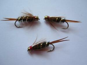 SIZES AVAILABLE 1 DZ D16-7 BEAD HEAD CDC PRINCE/'S NYMPHS