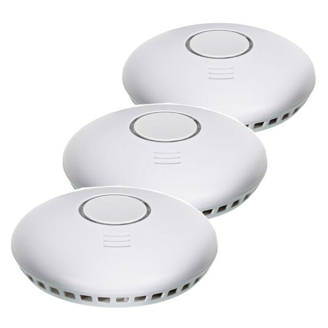 3er SET Funk Rauchmelder Allround Security Batterien Funkvernetzung 19,90€//Stk