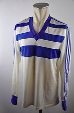 Adidas 80er Trikot Shirt Gr. L true vintage oldschool Jersey weiß used langarm