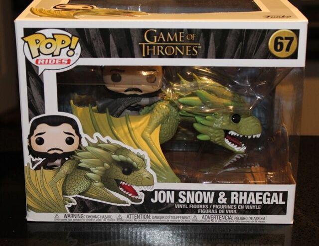 Funko Pop Rides Game of Thrones Jon Snow & Rhaegal 67 Vinyl Figure - New