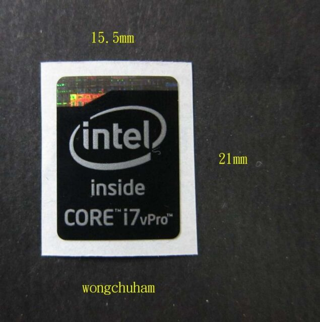 10x Intel Core i7 vPro Sticker 15.5mm x 21mm Haswell Extreme Version