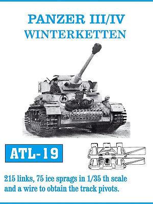 1/35 ATL19 FRIULMODEL METAL TRACKS WINTERKETTEN FOR GERMAN PANZER III/IV PROMOTE