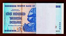 Zimbabwe 35 X 100 TRILLION Dollars AA-2008 Pick-91 UNC