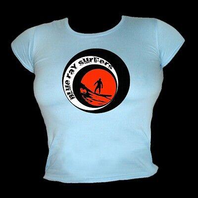 Klassisch Vintage Surfen Film Strand /& Urlaub T-Shirt Damen Endlos Sommer II