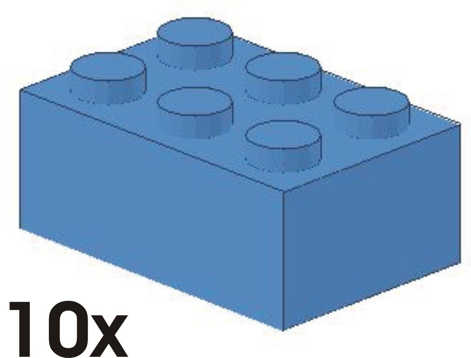 10 pièce nouvelle 2x3 pierres dans neuf-bleu clair 4210130 (art. 3002) | Art Exquis