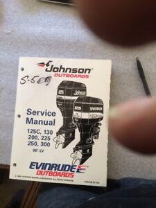 johnson evinrude outboards outboard motor service manual 125c 130 rh ebay com ST1102 Motor Manual Haul-Master Utility Vehicle Repair Manual