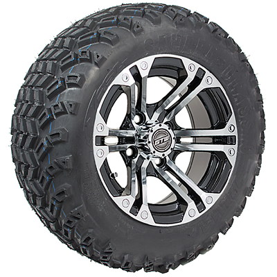 22 Inch Tires >> Set Of 4 12 Inch Gtw Specter Machined Wheels On 22 Inch All Terrain Tires Ebay