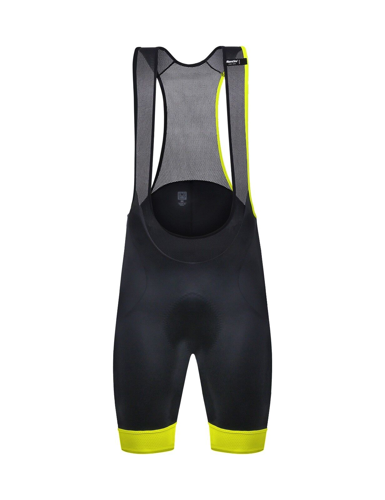 SALOPETTE SANTINI SCATTO black yellow FLUO Size XL