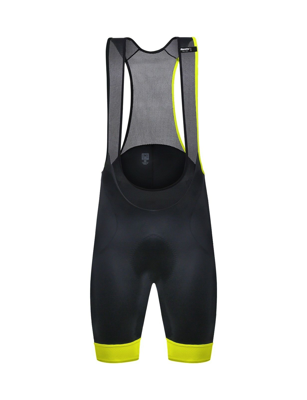 SALOPETTE SANTINI SCATTO black yellow FLUO Size XXL