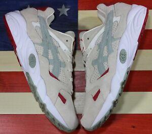 Asics-Tiger-Gel-Diablo-Running-shoes-Birch-Seagrass-Red-1193A014-200-Mens-sz-9