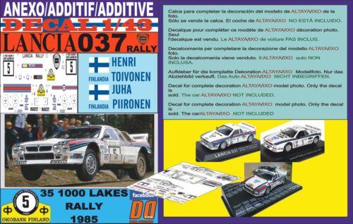 ANEXO DECAL 1//43 LANCIA 037 RALLY H.TOIVONEN 1000 LAKES R 1985 05
