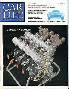 Car Life Magazine June 1961 Coventry Climax EX 060916jhe