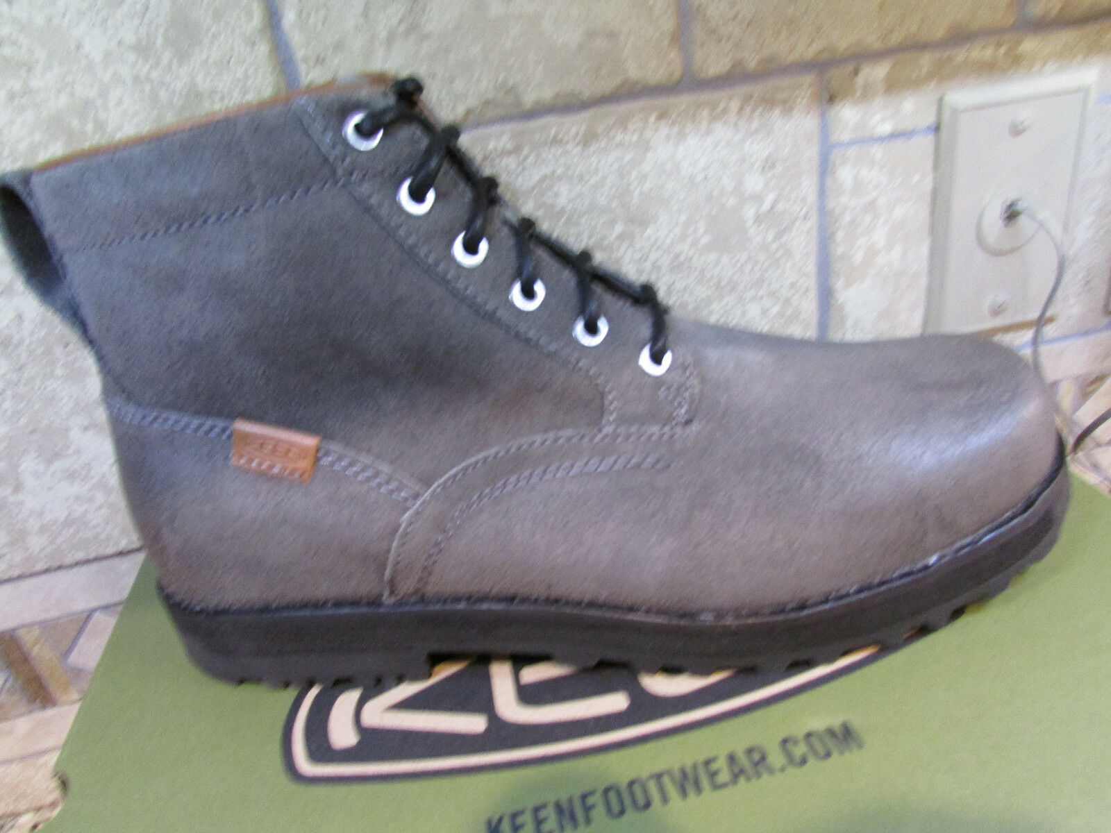 NEW KEEN THE 59 SHITAKE SUEDE Stiefel MENS 11.5 ANKLE Stiefel 1013792 GRAUY