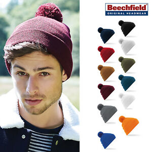 f7d2ece4d77 Beechfield Original Pom Pom Beanie-warm   stylish soft winter hat ...