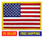 AMERICAN-FLAG-EMBROIDERED-PATCH-iron-on-GOLD-BORDER-USA-US-United-States thumbnail 1