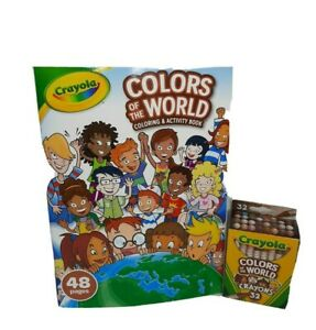 Crayola-Colors-Of-The-World-Coloring-And-Activity-Book-And-Crayons-New