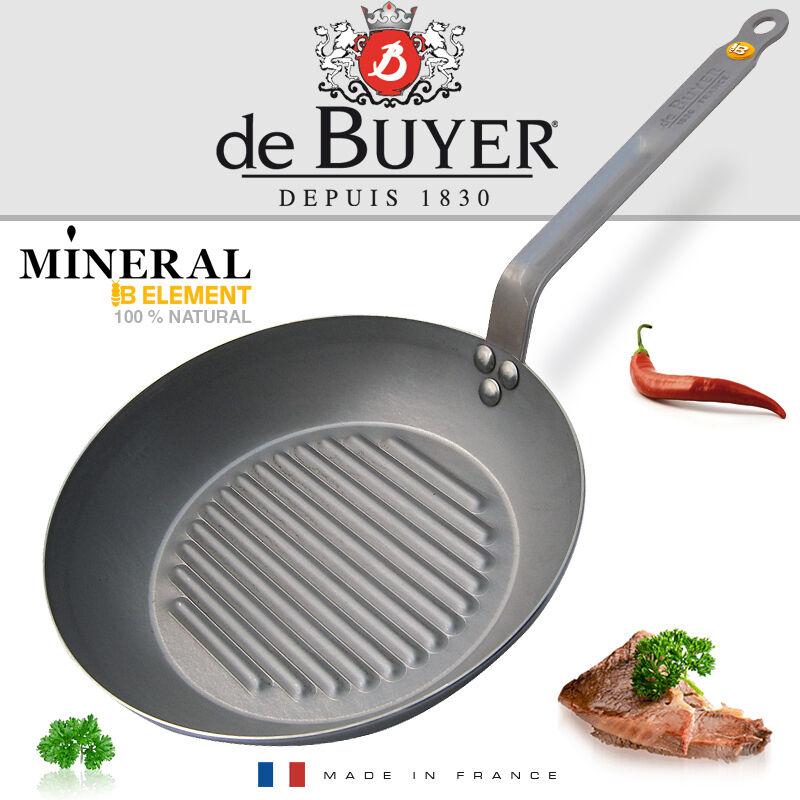 De Buyer round Grill poêle 32 CM-Minérale B Elément