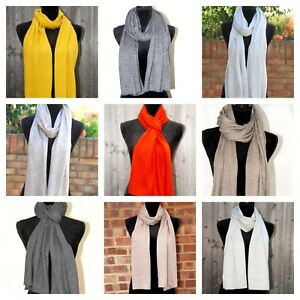 Cashmere Scarf Knitted Muffler Mens Ladies Ideal Gift Soft Warm Winter