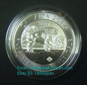 2016 Canada 8 1 25oz 1 1 4 Oz Bison 9999 Fine Silver Bullion Coin Round Ebay