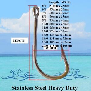 Game-Fishing-Hooks-Stainless-Steel-Fishing-Hooks-Trolling-Hooks-Shark-Hooks-New