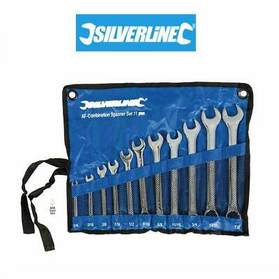 22PC METRIC AF DROP FORGED COMBINATION SPANNER WRENCH SET CASE 6-19MM 1//4-7//8 NT