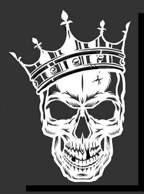 high detail airbrush stencil skull king   FREE UK POSTAGE