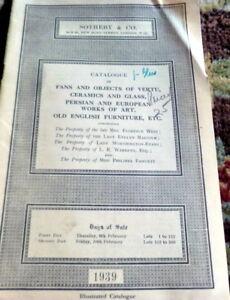 1939 Fans English Furniture Ceramics Persian Art Sotheby London Auction Catalog Ebay