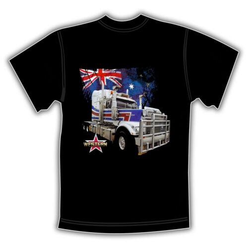 WESTERN STAR TRUCK  BLACK T SHIRT  /'Aussie Flag/'