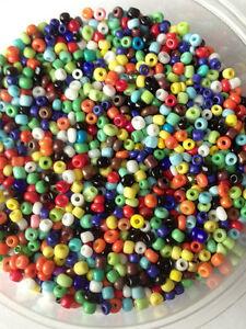 50g-perline-di-vetro-Misto-Opaco-approssimativamente-2mm-taglia-11-0-mix-colori